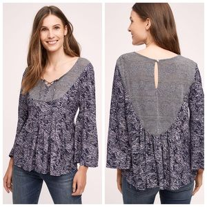 Anthropologie Akemi + Kin Marcella Lace Up Top